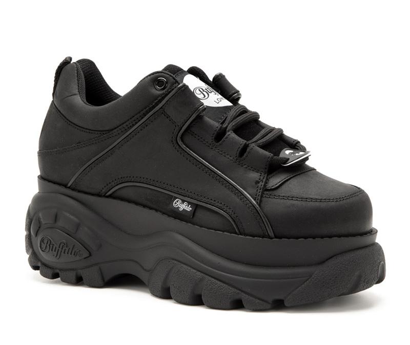 Buffalo London black platform sneakers