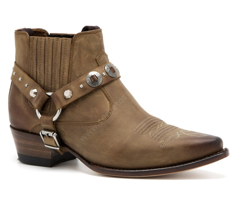para Botines piel vaquera moda Sendra marrón Floter 14739 mujer Jaen Corbeto's Tang con Boots arnés Lavado fwAIRq0