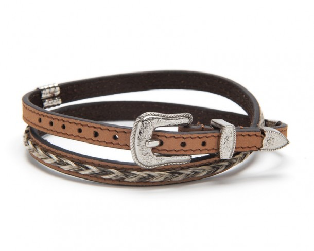0274802 | Genuine horse hair and light brown leather cowboy