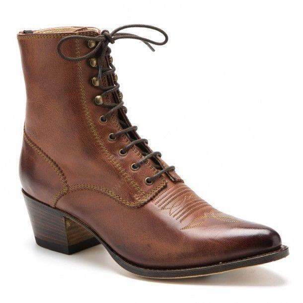 Ladies Sendra Boots vintage brown laced