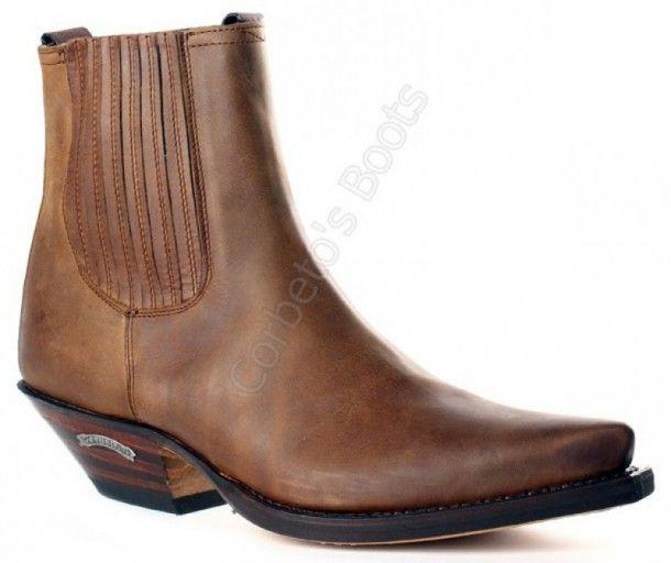 8ffe2e50cb2 1692 Cuervo Sprinter Tang | Sendra Boots mens fine toe brown leather ...