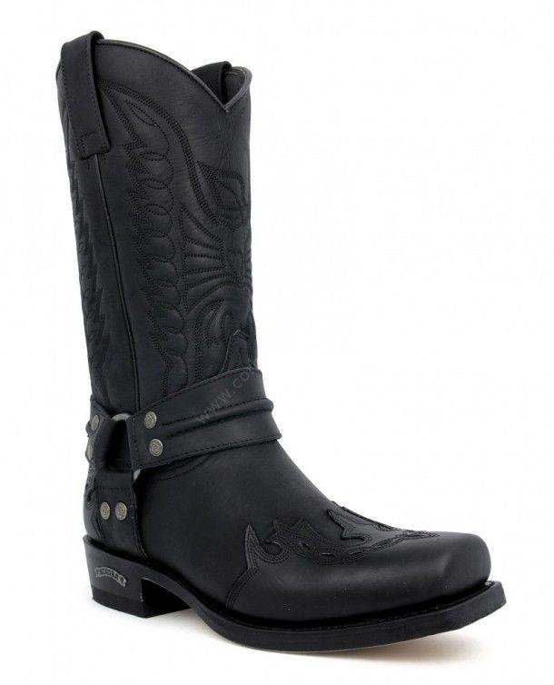 Sendra Boots 4980 Negro Bikerstiefel schwarz