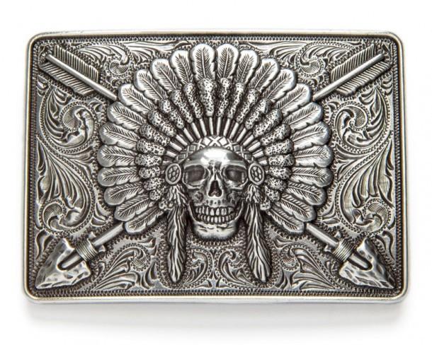 Western Metal Belt Buckle Biker American Cowboy Country Indian Belt Buckle