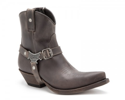 Mid calf mens Mayura cowboy boots with matching straps and side zipper