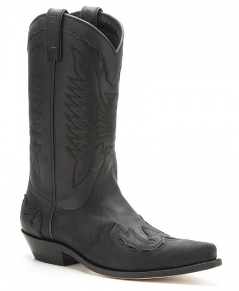 017 Crazy Old Negro | Mayura Boots mens combined black cowboy boots