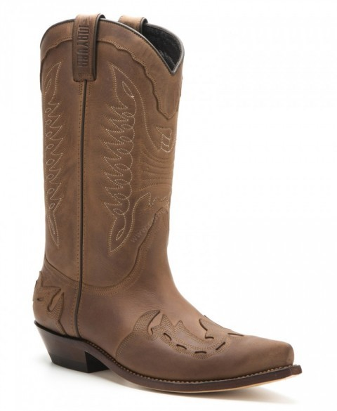 Mayura Boots mens combined tanned brown cowboy boots