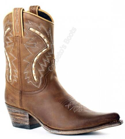 Sendra ladies brown low cowboy boots