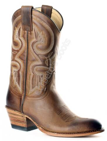 Sendra Boots ladies mid calf brown leather cowboy boots