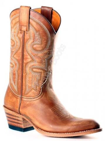 Sendra Boots ladies mid calf beige leather cowboy boots