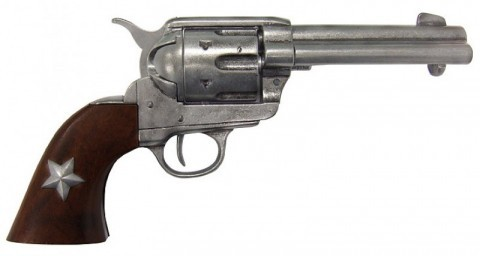 Colt revolver replica with decorative star on the handle