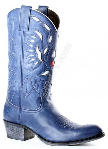 Sendra womens round toe blue cowboy boots