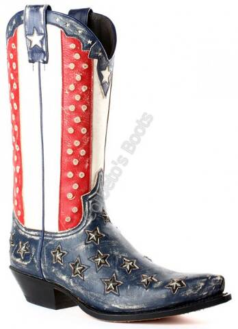 Sendra Boots unisex United States flag with studs cowboy boots