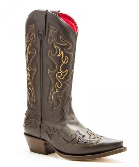 Buffalo Boots mens brown leather cowboy boots