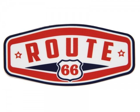 Modern design rectangular Route 66 sticker