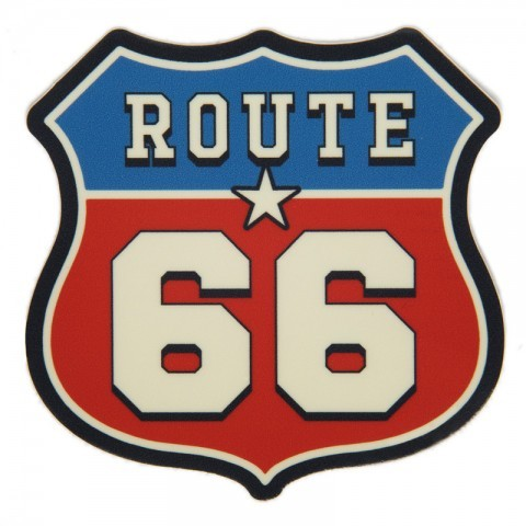 Relief effect Route 66 shield sticker