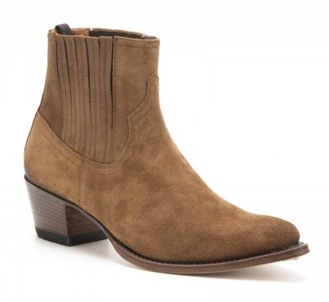 Womens Sendra Boots brushed brown leather ankle boots