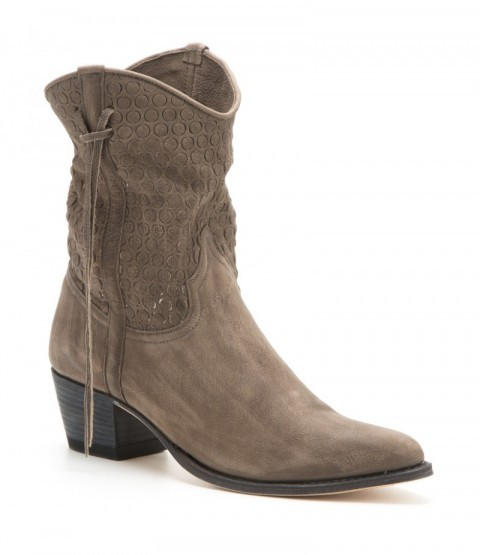 12502 Lia Inca Óxido 213 Gris | Womens Sendra openwork short leg brushed grey leather boots