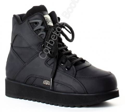 Buffalo Classic 4 cms. high platform black boots