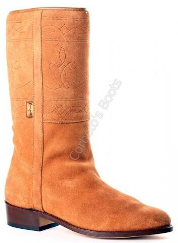Valverde del Camino light brown suede camperos boots