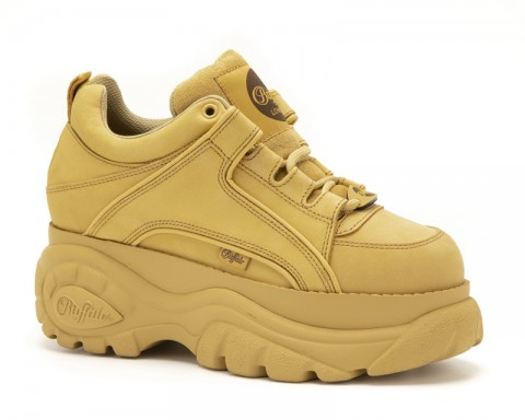 Buffalo London mustard plateau sneakers
