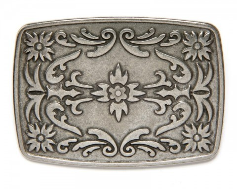Unisex tribal and floral design cowboy fashion belt buckle