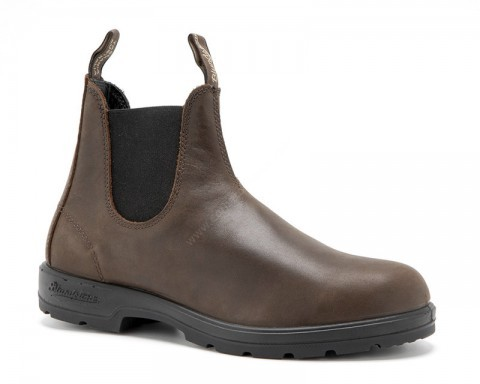 Tanned dark brown leather Blundstone ankle boots
