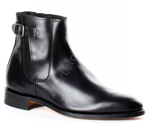 Valverde del Camino black leather ankle camperos boots