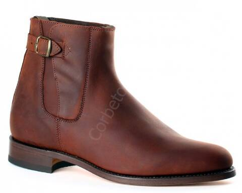 Valverde del Camino brown leather ankle camperos boots