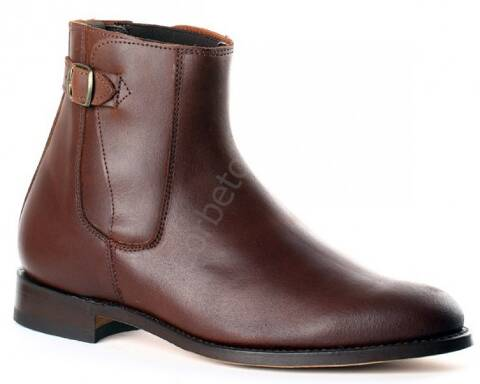 Valverde del Camino greased brown suede ankle camperos boots