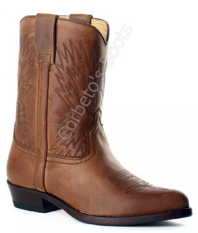 Sendra children brown leather cowboy boots