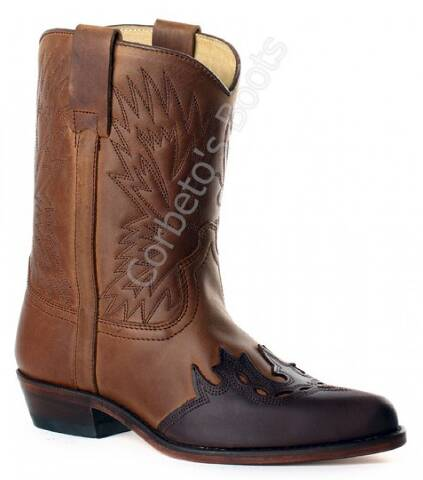 Sendra children combined brown leathers cowboy boots