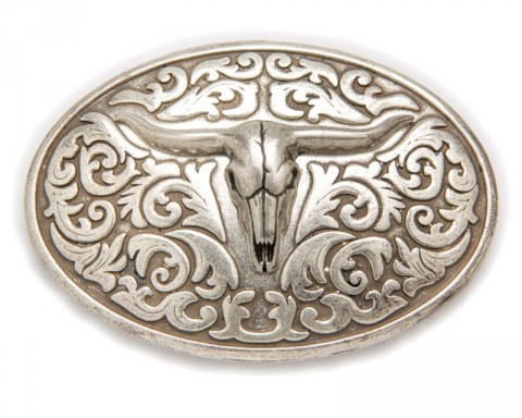 Sendra Boots cowboy relief silver longhorn belt buckle