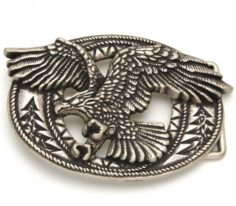 Sendra Boots biker eagle in relief belt buckle