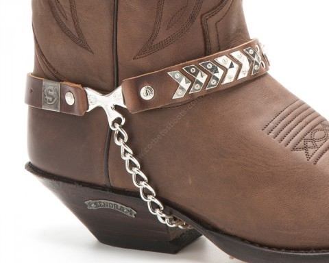 Sendra Boots brown boot chains/straps
