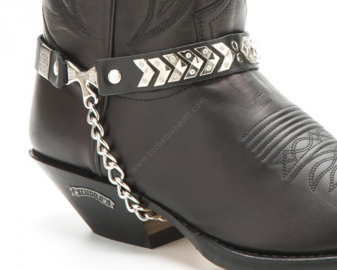 Sendra Boots black boot chains/straps