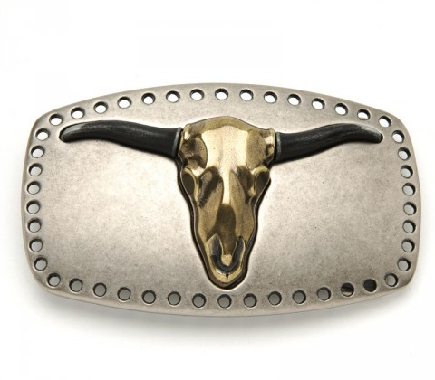 Sendra Boots golden longhorn belt buckle
