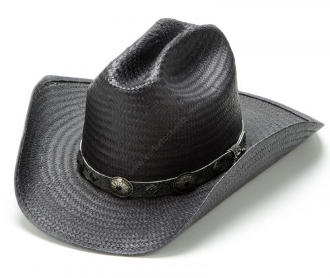 Stars & Stripes black straw unisex cowboy hat