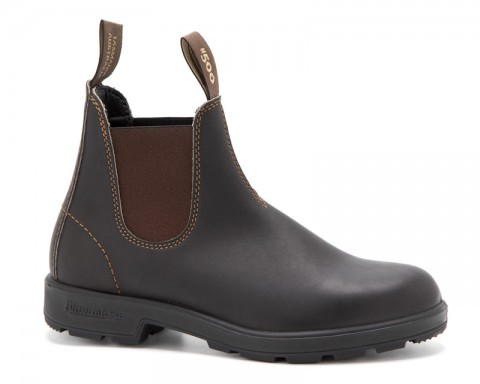 Blundstone dark brown leather Chelsea boots with non-slippery sole