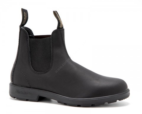 Blundstone basic black ankle boots with rubber sole