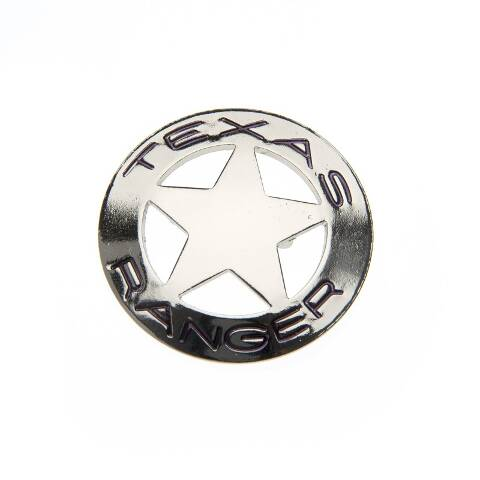 Silver metal TEXAS RANGER badge
