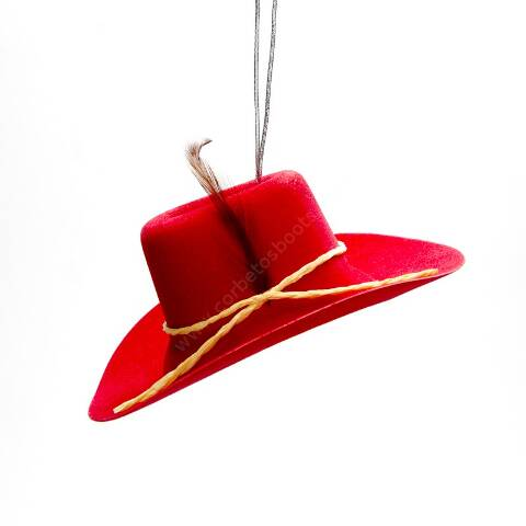 Red cowboy hat strawberry fragrance air freshener