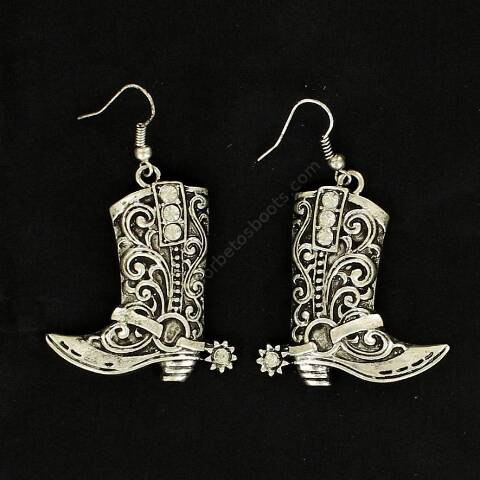 Cowboy boots with rhinestones earrings