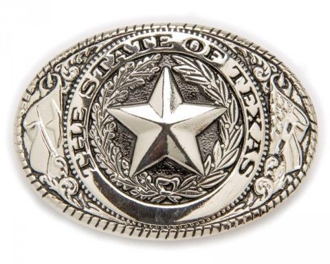 Hebilla cowboy The State Of Texas metal brillante