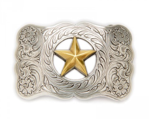Nocona golden star western buckle