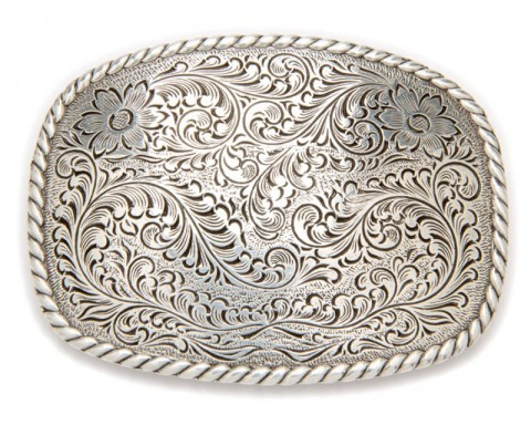 Nocona engraved filigree buckle