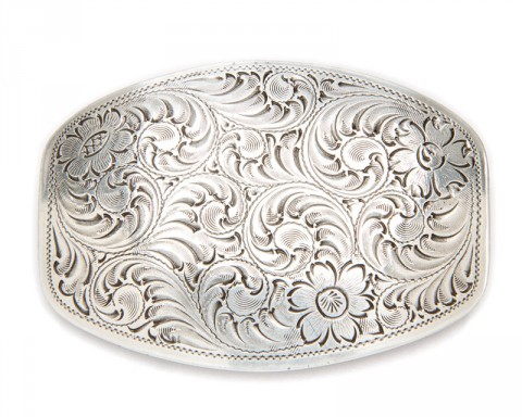 Nocona engraved filigree small size buckle