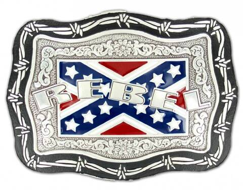 Confederate flag REBEL buckle