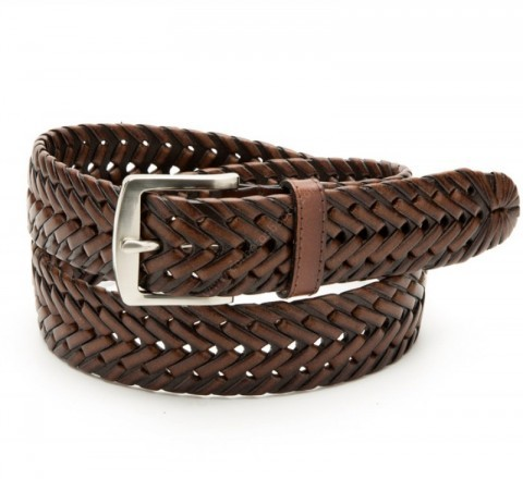Nocona braided brown leather belt