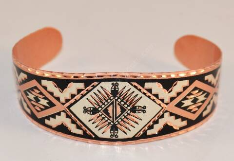 Indian mosaic copper bracelet
