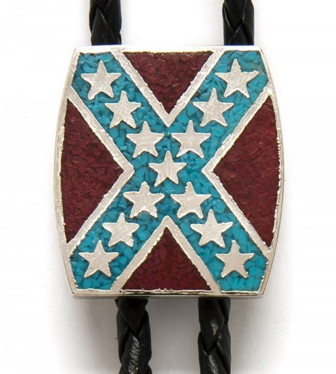 Southern flag cowboy bolo tie for shirt